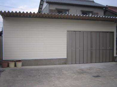 車庫入り口改修