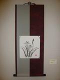 作成者:福谷   裂地の一部は友達から  頂いた着物で作った、  色紙掛けです。
